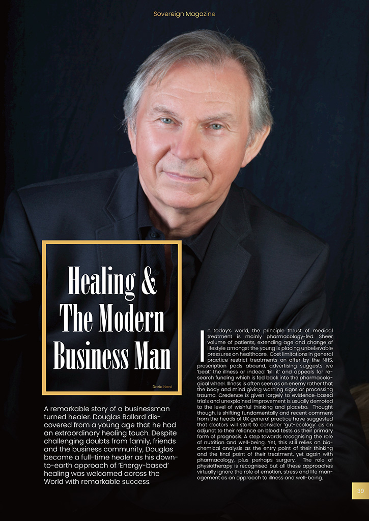 HEALING & THE MODERN BUSINESSMAN (SOVEREIGN MAGAZINE / 11 September 2019)